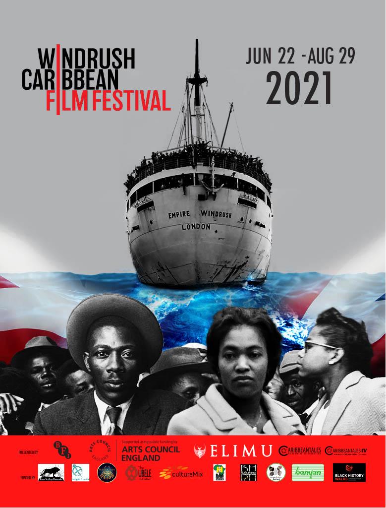 Poster ad for the Windrush Caribbean Film Festival 2021.